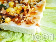 Рецепта Медено козе сирене с орехи, коняк и царeвица